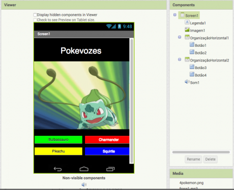 MIT App Inventor Português Sons Botões Imagens One Day Code
