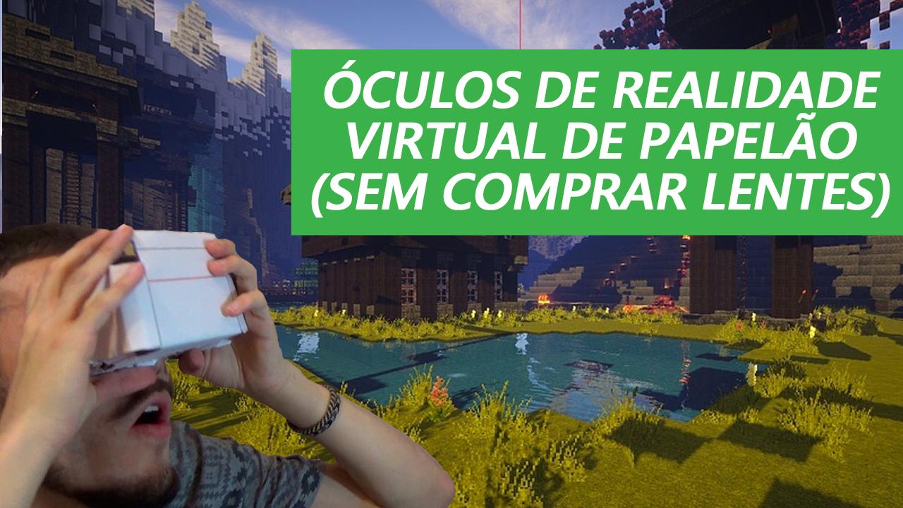 Óculos De Realidade Virtual Caseiro - Google Cardboard Sem Lentes
